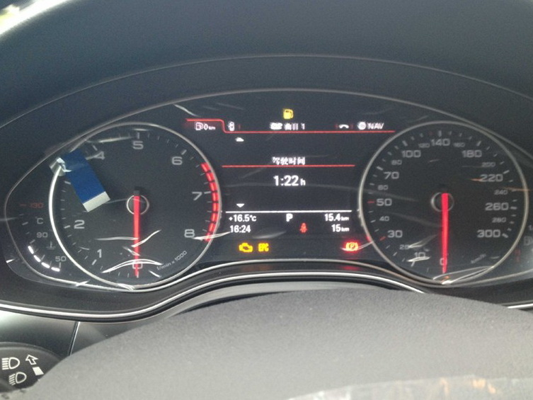 奥迪A6L 2012款 30 FSI 舒适型中控方向盘图片