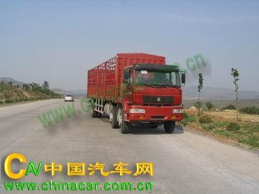 黄河牌ZZ5201CLXH60C5W型仓栅式运输车图片