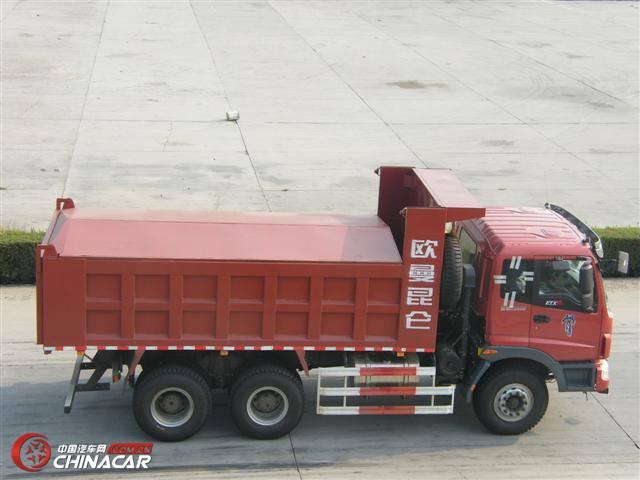 欧曼 国三排放 后双桥,后八轮 321马力 12吨 柴油自卸