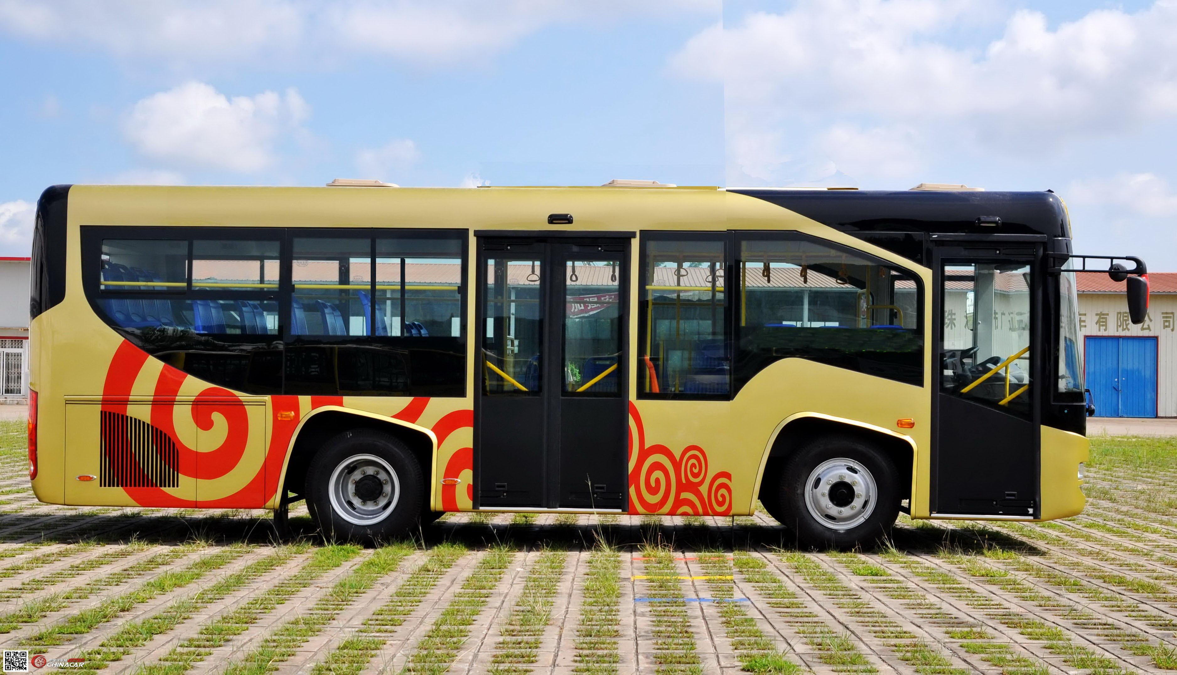 广通牌汽车图片 广通牌客车图片系列 gtq6857e3gj型广通牌城市客车