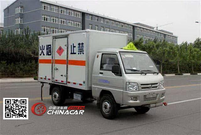 福田牌BJ5020XRQ-S1型易燃气体厢式运输车图片