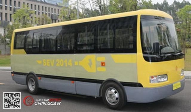 扬子江牌WG6660BEVH型纯电动城市客车图片1