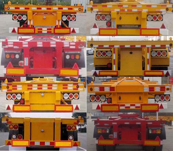 凯烁牌KSQ9400TJZG集装箱运输半挂车图片4
