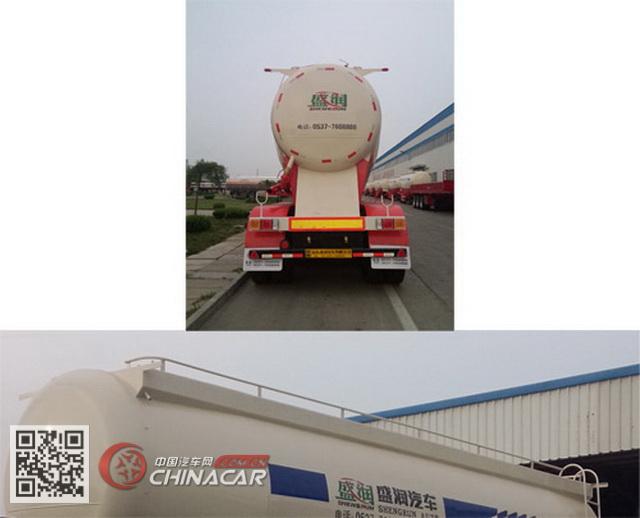 SKW9405GFLA型盛润牌中密度粉粒物料运输半挂车图片4
