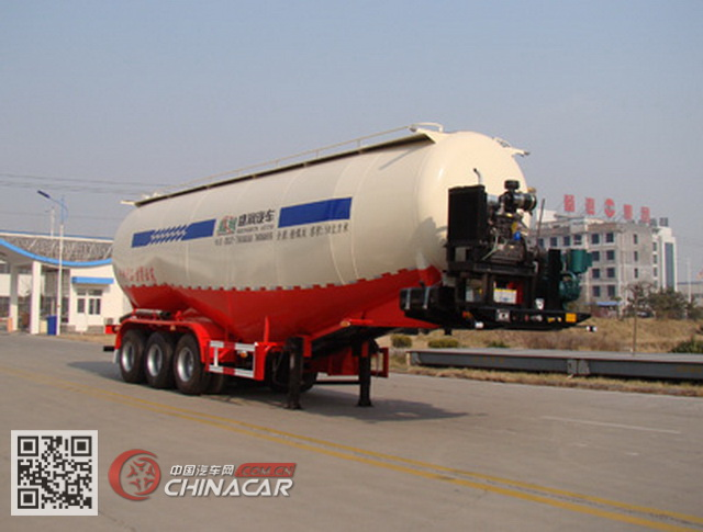 SKW9408GFLA型盛润牌低密度粉粒物料运输半挂车图片1