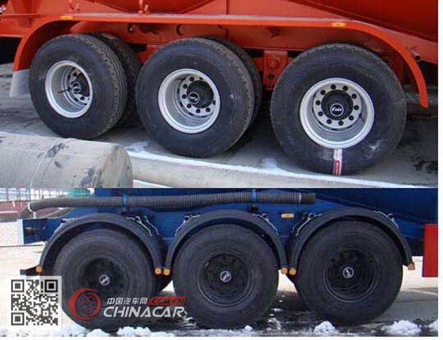 SKW9408GFLA型盛润牌低密度粉粒物料运输半挂车图片3