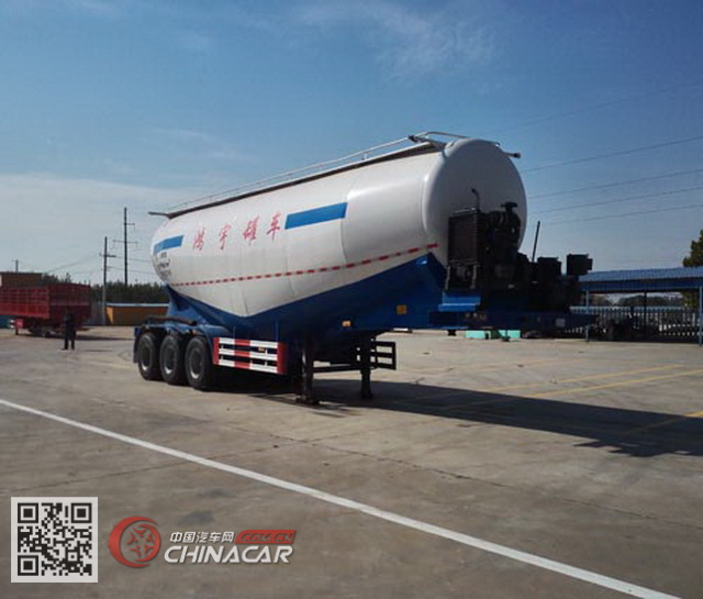 WMH9400GFL型鸿宇达牌中密度粉粒物料运输半挂车图片1