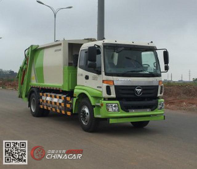 福田牌BJ5162ZYSNG-H1型压缩式垃圾车