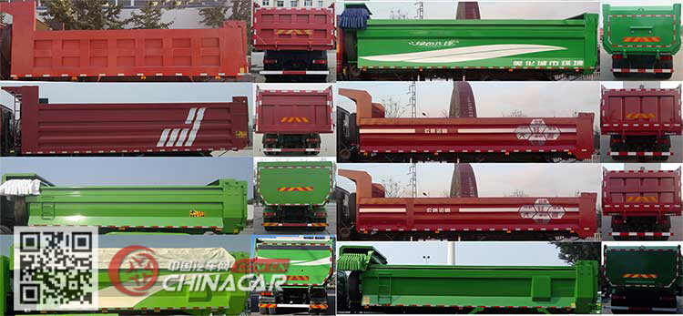 BJ3313DNPKC-CA型欧曼牌自卸汽车图片3