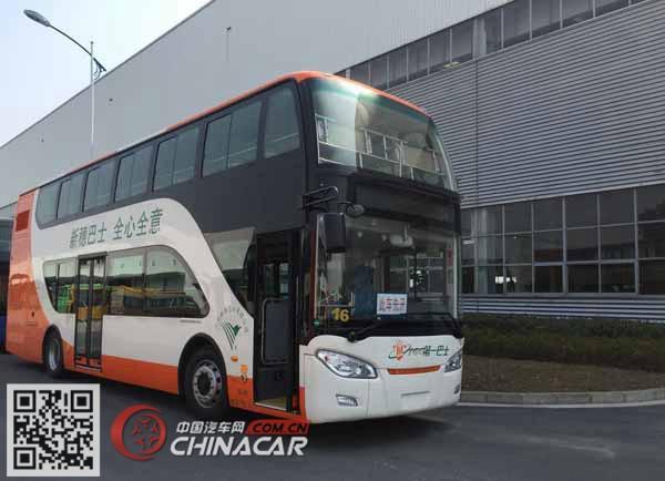 南车时代牌TEG6111EHEV01型混合动力双层城市客车图片1