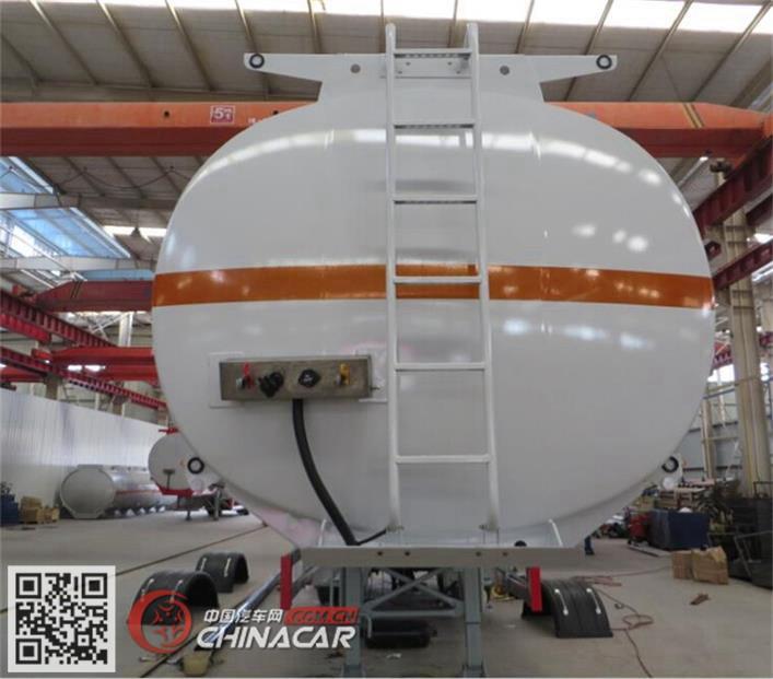 海福龙牌PC9401GYYE型铝合金运油半挂车图片3