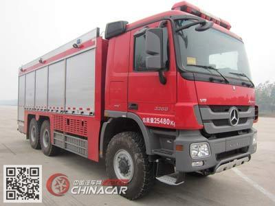 天河牌LLX5254TXFGF60/B型干粉消防车图片1