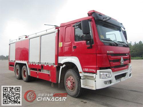 鸡球牌SZX5231TXFGF60I/ZZ型干粉消防车图片