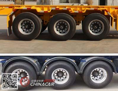 CTY9382TJZG40型通亚达牌集装箱运输半挂车图片2