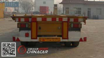 CTY9382TJZG40型通亚达牌集装箱运输半挂车图片3