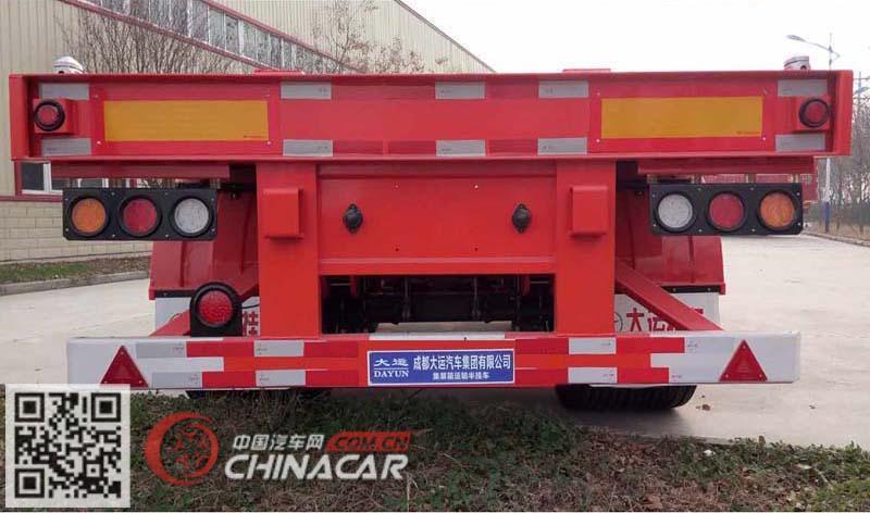 CGC9401TJZ382型大运牌集装箱运输半挂车图片3