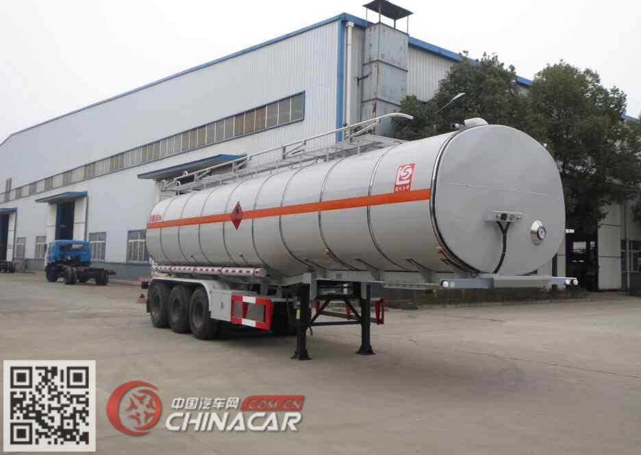 SLS9401GRYB型醒狮牌易燃液体罐式运输半挂车图片1