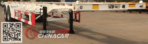 ZJV9350TJZQDX型中集牌集装箱运输半挂车图片3