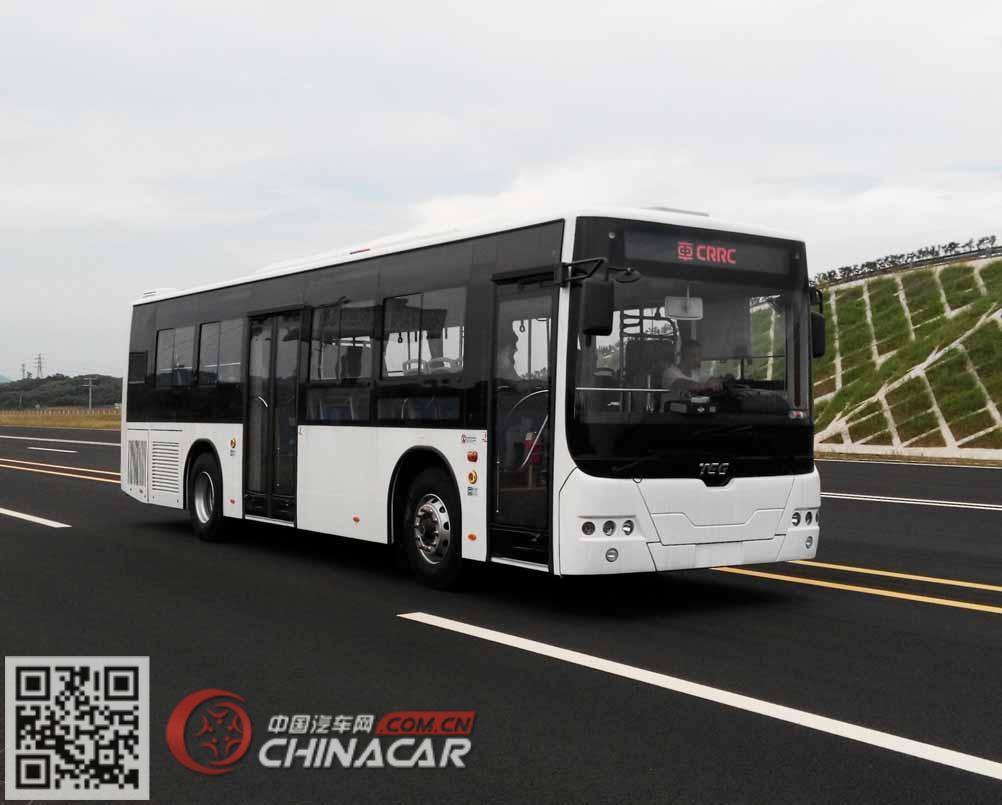 南车时代牌TEG6106EHEV16型混合动力城市客车图片1