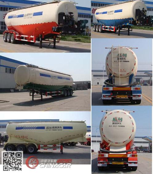 SKW9403GFLA型盛润牌中密度粉粒物料运输半挂车图片2