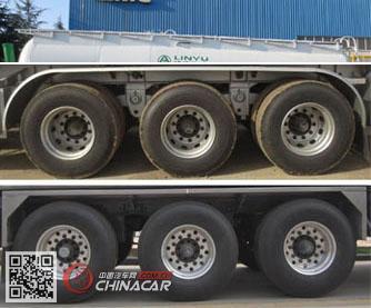 CLY9405GFLC型凌宇牌铝合金中密度粉粒物料运输半挂车图片2
