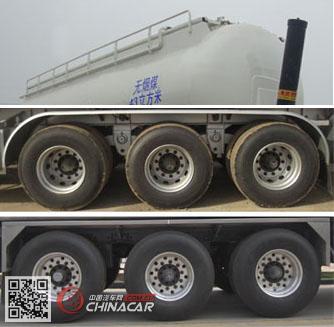 CLY9405GFLD型凌宇牌铝合金中密度粉粒物料运输半挂车图片2