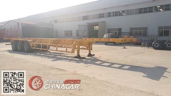 WRQ9400TJZ型梁�呐萍�装箱运输半挂车图片1