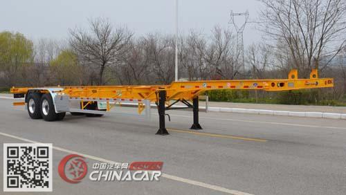 TJV9350TJZH型天骏德锦牌集装箱运输半挂车图片1