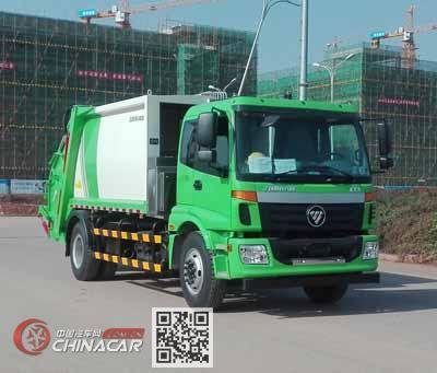 福田牌BJ5182ZYSE5-H1型压缩式垃圾车图片1