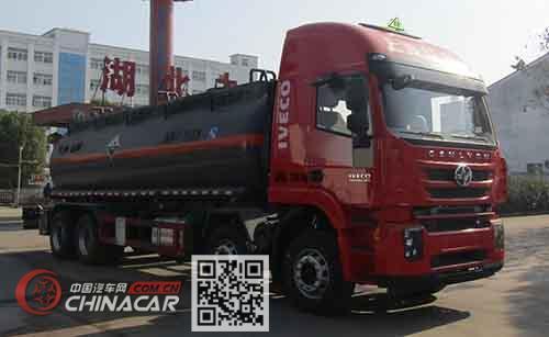中汽力威牌HLW5315GFW5CQ型腐蚀性物品罐式运输车图片