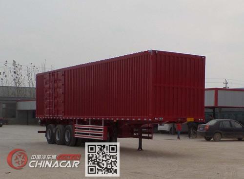 郓哹okz%_鲁郓万通 13米 32.2吨 3轴 厢式运输半挂车 yfw9403xxy