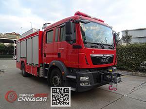 捷达消防牌SJD5170GXFAP50/MEA型压缩空气泡沫消防车图片1