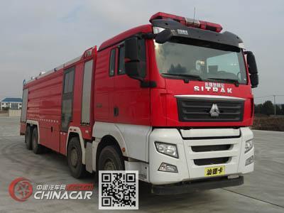 永强奥林宝牌RY5361GXFSG180/D0型水罐消防车图片1