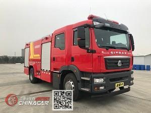 捷达消防牌SJD5170GXFSG60/SDA型水罐消防车图片1