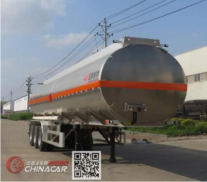 特运牌DTA9401GYYB型铝合金运油半挂车图片1
