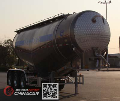 开乐牌AKL9400GFLL4型铝合金中密度粉粒物料运输半挂车图片1