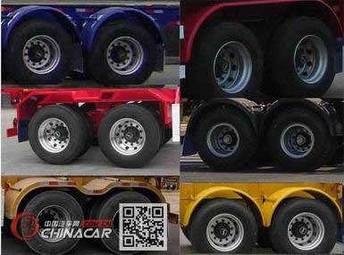 闽兴牌FM9350TWY型危险品罐箱骨架运输半挂车图片2