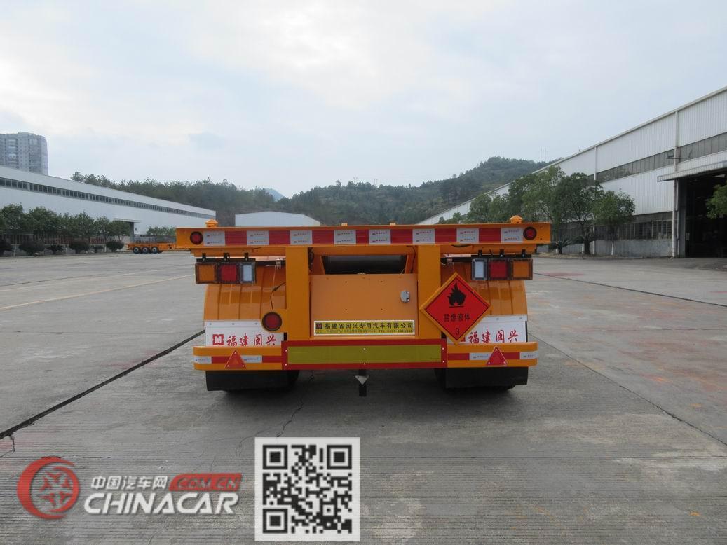 闽兴牌FM9350TWY型危险品罐箱骨架运输半挂车图片3