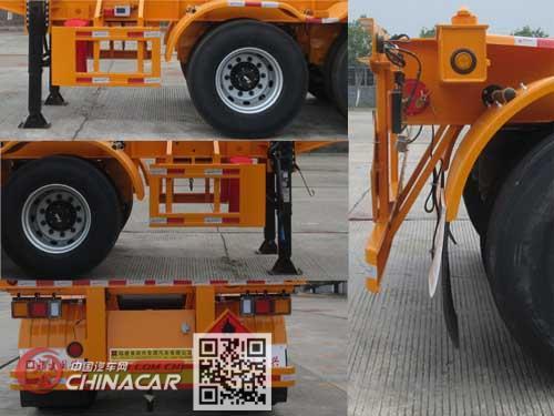 闽兴牌FM9350TWY型危险品罐箱骨架运输半挂车图片4
