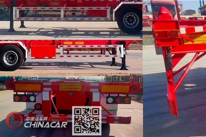 斯纳德汽车牌SND9409TJZ型集装箱运输半挂车图片4