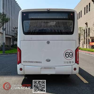 万达牌WD6700BEVWG01型纯电动城市客车图片4