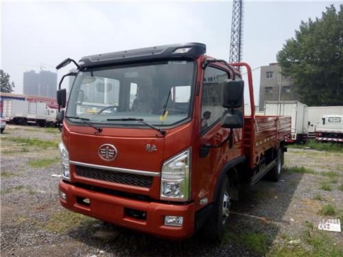 【郑州】一汽通用小解放轻卡速豹排半平板 价格13万 二手车