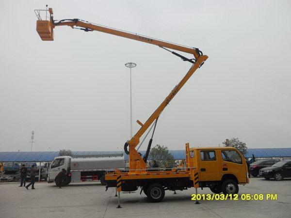 东风福瑞卡16米(四四)高空作业车主要技术参数,带免征!