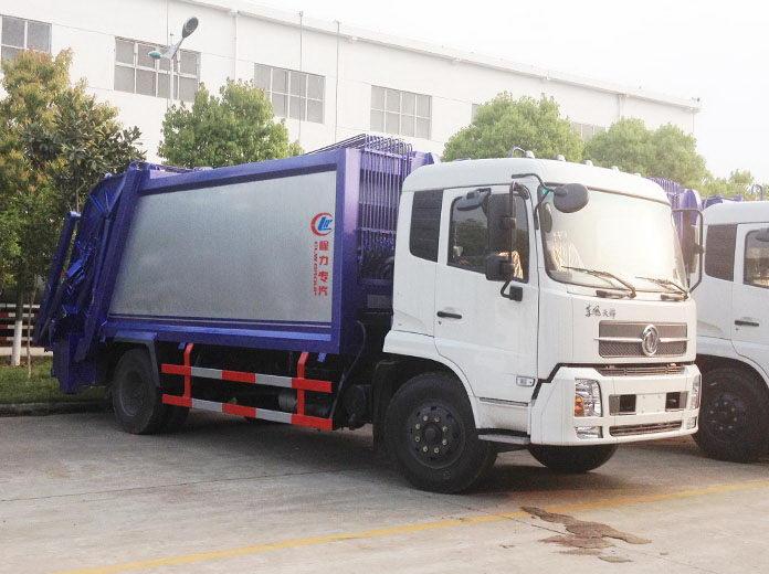 国四东风天锦压缩式垃圾车——主要技术参数