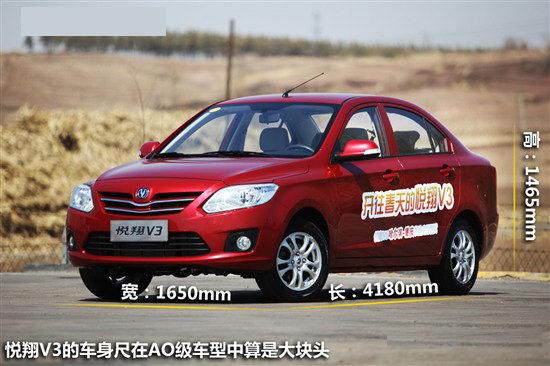 第八批节能补贴经济实用车型 长安悦翔V3