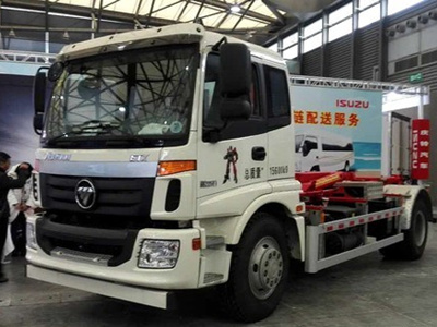 专为国五准备 福田全新LNG压缩式垃圾车