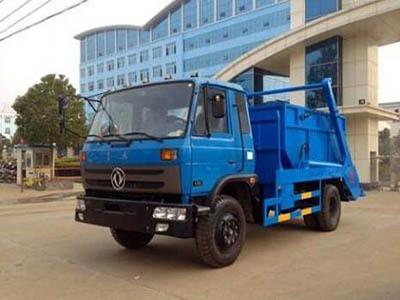 东风145摆臂式垃圾车 城市垃圾清运首选产品