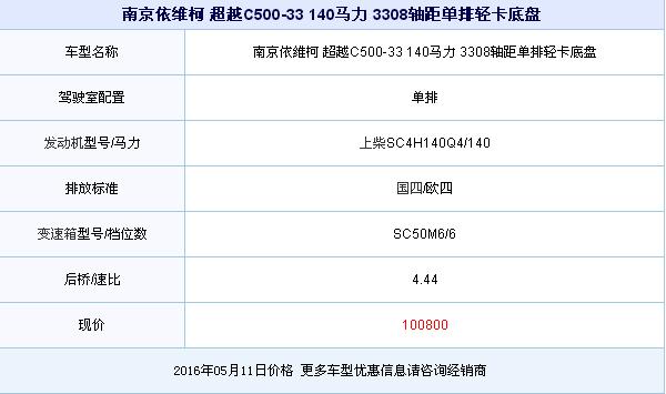直降3200元 超越C500 140马力轻卡促销