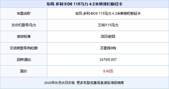 新车到店 广州东风多利卡轻卡售9.48万