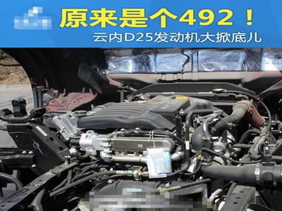 原来是个492!云内D25发动机大掀底儿